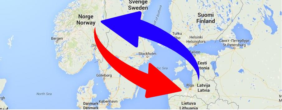 Starptautiskie kravu pārvadājumi Norvēģija