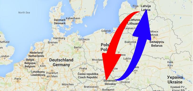 Kravu pārvadājumi Slovākija