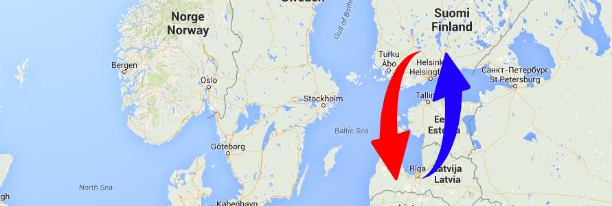 Regulāri kravu pārvadājumi uz un no Somiju