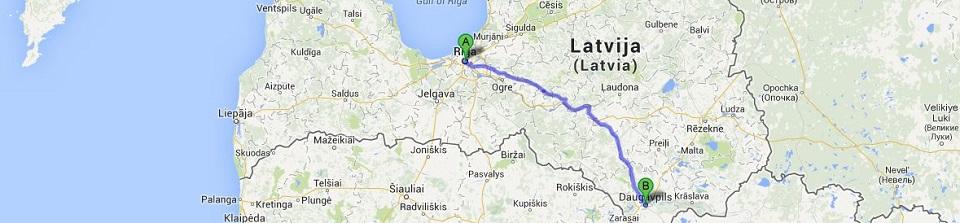 Kravu pārvadājumi Daugavpils - Rīga un Rīga - Daugavpils