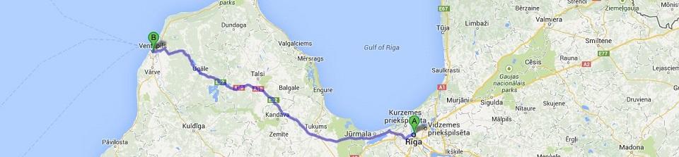 Kravu pārvadājumi Ventspils. Kravu pārvadājumi uz un no Ventspils no Rīgas